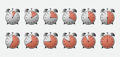 Stopwatch with different time set vector