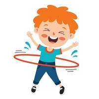 poses y expresiones de un chico divertido. vector
