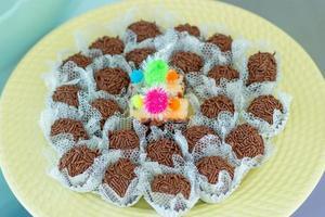 Sweets known as brigadeiro photo