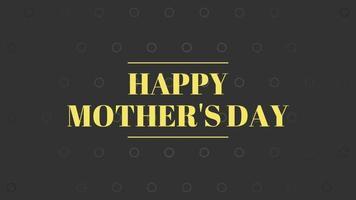 graphiques animés de message texte de fête des mères heureux video