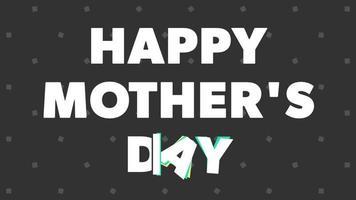 message texte animé fête des mères heureux sur le minimalisme fond noir animation motion graphics video