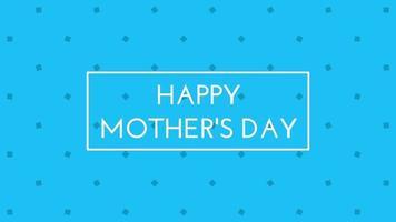 message texte animé de fête des mères heureux sur l'animation de fond de minimalisme video