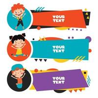 Colorful Speech Bubbles And Labels vector