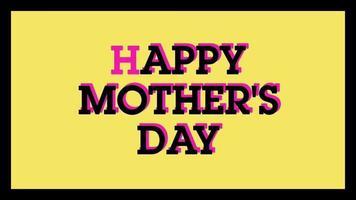 animation de la fête des mères heureuse animée sur une animation de fond de minimalisme video