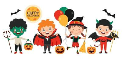 Cute Halloween Banner vector