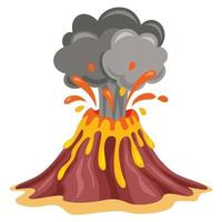 Volcano Erruption And Lava Drawing vector