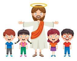 Cartoon Drawing Of Jesus Christ vector