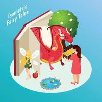 Fairy Tales Isometric Composition Vector Illustration