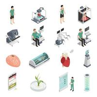 medicina futura tecnología iconos vector illustration