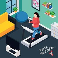 Overweight Isometric Composition Vector Illustration