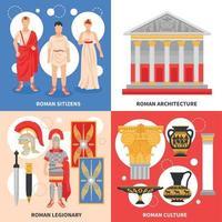 Ancient Rome Flat Concept Vector Illustration