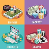 Casino 2x2 design concept Vector Illustration