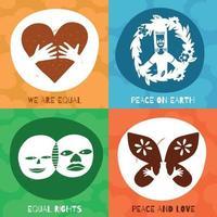 Ilustración de vector de concepto de símbolos de amistad internacional