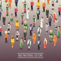 Multinational World Culture Background Vector Illustration
