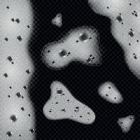 Soap Foam Monochrome Background Vector Illustration