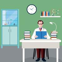 Scientists People Composition Vector Illustration