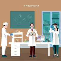 Scientists People Flat Composition Vector Illustration