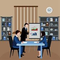 Human Resources Background Vector Illustration
