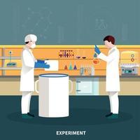 Ilustración de vector de composición de personas de dos científicos