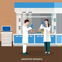 Scientists People Multicolored Composition Vector Illustration