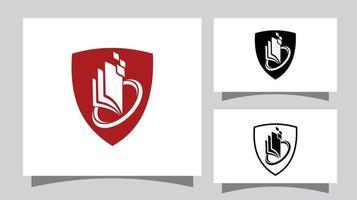 Shield and Book Logo Sign vector