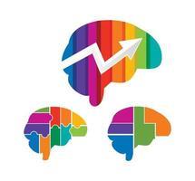 Brain Multicolor Vector Sign