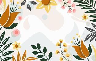Floral Ornament Background on Vintage Color vector