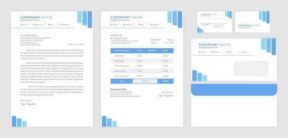 Elegant blue business card set vector