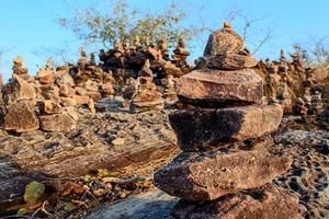 equilibrio de rocas diseño de la naturaleza foto
