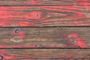 viejo piso de madera roja foto