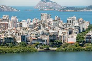 View from the summit of the vulture's lookout in the Rodrigo de Freitas lagoon in Rio de Janeiro photo