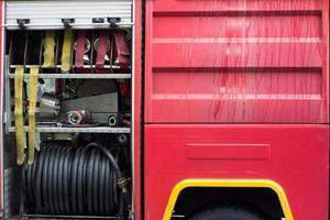 detalle del camión de bomberos foto
