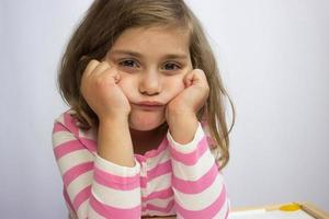 Portrait of a girl in time out photo