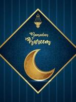 Ramadan kareem vector illustration of pattern moon on creative background