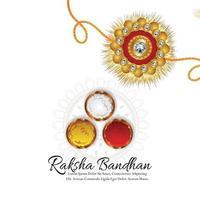 Indian festival happy raksha bandhan festival of brother and sister celebration background vector