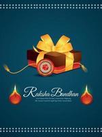 Indian festival happy raksha bandhan background with realistic illustration vector