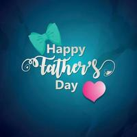 Happy fathers day invitation greeting card and background with bow vector