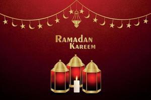 Islamic festival of ramadan kareem invitation greeting card with vector illustration