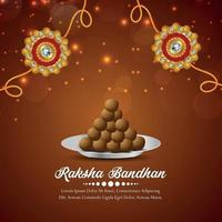 Indian festival rakhsa bandhan festival of brother and sister bond background vector