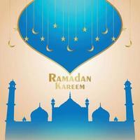 festival islámico decorativo ramadan kareem fondo con mezquita vector