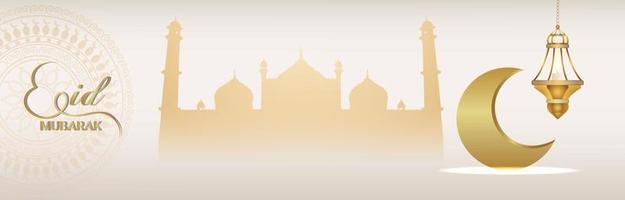 banner de invitación de ramadan kareem con linterna dorada creativa sobre fondo creativo vector