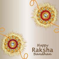 Happy raksha bandhan celebration background with creative vector illustration of garland flower
