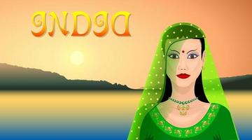 Indian Eastern woman vector
