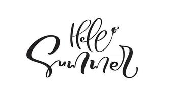 Hello Summer Calligraphy lettering brush text vector