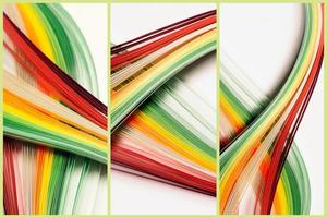 Abstract lines triptych background photo