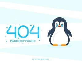 404 page not found with crying pinguin vector web design