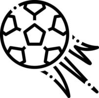 Line icon for football vector