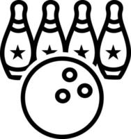 Line icon for bowling vector