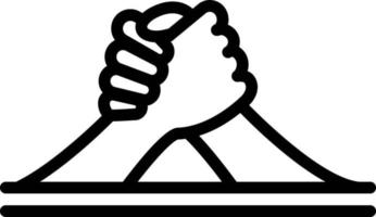 Line icon for arm wrestling vector