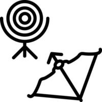 Line icon for archery vector